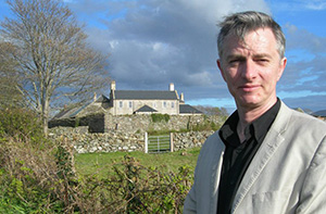 Pictured in front of the Doherty Castle Co Donegal.