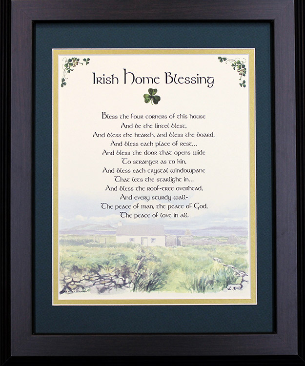 Irish Home Blessing Bless The Four Corners 16x20