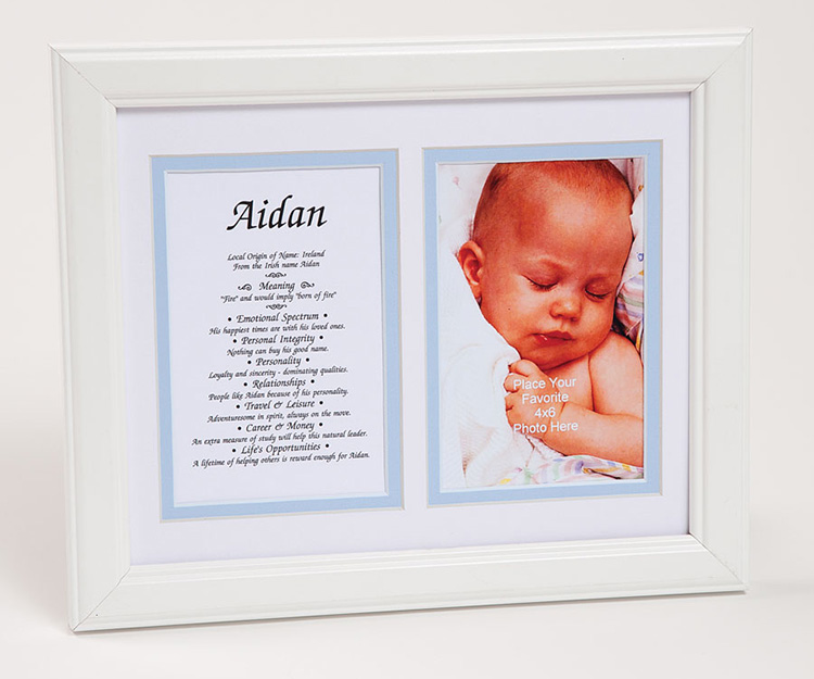 8x10 Baby Photo First Name Meaning Framed Boy