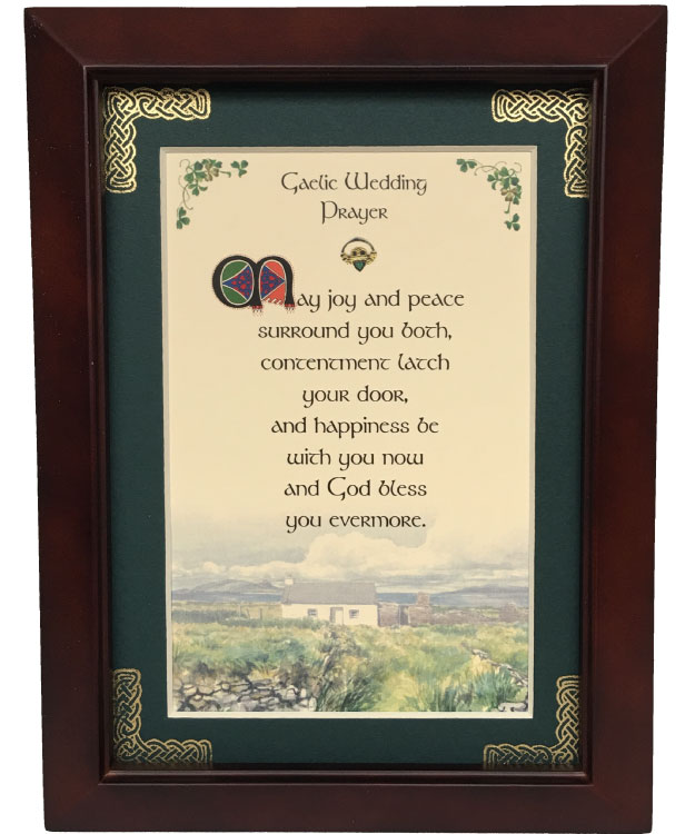 Gaelic Wedding Prayer 8x10 Blessing