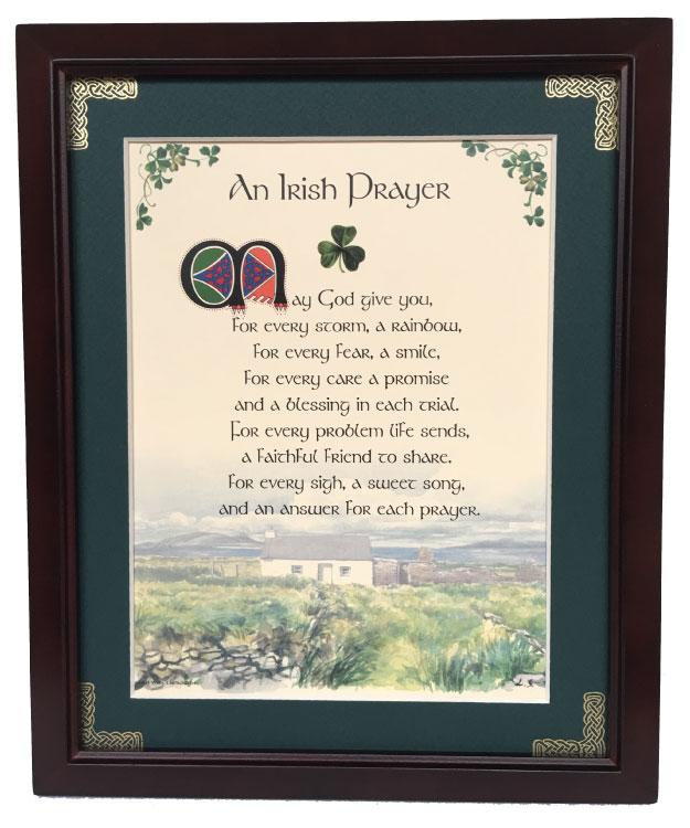 Irish Prayer - May God Give You - 8x10 Blessing