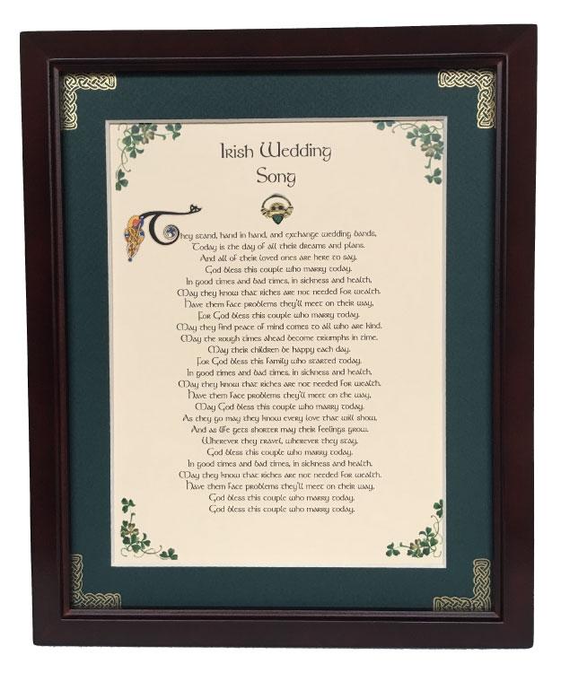 Irish Wedding Gifts From Ireland: Irish Wedding Song