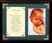 Baptism Blessing - Dearest Father - 8x10 Photo Blessing