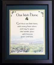Irish Home Blessing - God Bless Our Irish Home - 16x20