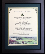 An Irishman's Philosophy - 16x20 Blessing