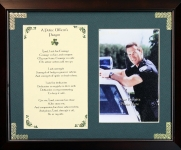 A Police Officer's Prayer - 8x10 Photo Blessing