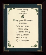 An Irish Blessing to My Goddaughter - 8x10 Verse