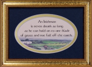 An Irish Wish From The Heart Of A Friend - 5x7 Blessing - Oval Gold Frame