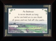 An Irishman Is Never Drunk As Long... - 5x7 Blessing - Walnut Landscape Frame