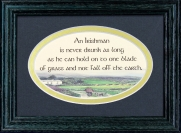 An Irishman Is Never Drunk As Long... - 5x7 Blessing - Oval Green Frame