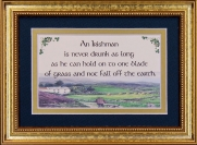 An Irishman Is Never Drunk As Long... - 5x7 Blessing - Gold Landscape