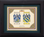 Double Coat of Arms Framed Walnut 11x14