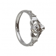 April - Cubic Zirconia Birthstone Claddagh Ring