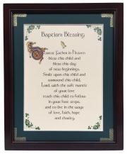 Baptism Blessing - Dearest Father - 8x10 Blessing