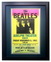 Beatles in Concert Dublin Adelphi Theater - Matted and Framed Print