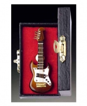 Brown Electric Guitar Pin With Case