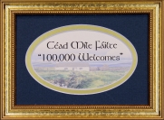 Cead Mile Failte - 5x7 Blessing - Oval Gold Frame