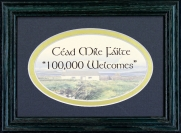 Cead Mile Failte - 5x7 Blessing - Oval Green Frame