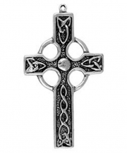 Celtic Cross Celtic Pewter Necklace