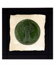 Celtic High Cross Parchment Wall Tile