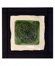 Celtic Hounds Parchment Wall Tile
