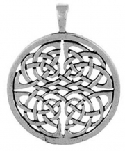 Celtic Knot Circle Pewter Necklace