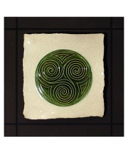 Celtic Spiral Parchment Wall Tile