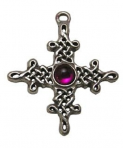Celtic Tara Cross Pewter Necklace