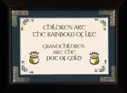 Children Are The Rainbow Of Life - 5x7 Blessing - Walnut Landscape Frame