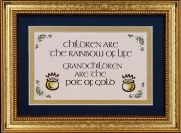 Children Are The Rainbow Of Life - 5x7 Blessing - Gold Landscape