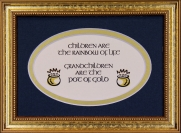 Children Are The Rainbow Of Life - 5x7 Blessing - Oval Gold Frame