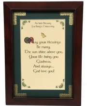 Christening - Irish Blessing for Baby's Christening - 5x7 Blessing