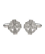 Celtic Cross Cuff Links - Silver