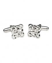 Filigree Celtic Cross Cuff Links - Silver