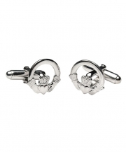 Claddagh Cuff Links - Silver