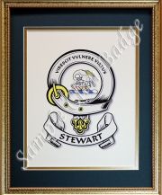 Clan Badge - Framed Gold