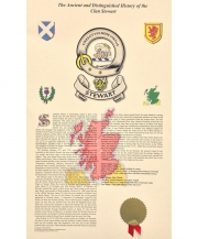 Clan Badge and History Print
