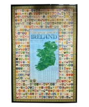 Coat of Arms of Irish Last Names - Poster Print