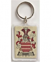 Coat of Arms Clear Plastic Acrylic Keychain