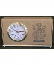 Coat of Arms Leatherette Clock