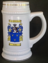 Coat of Arms White Ceramic Beer Stein