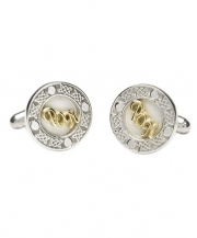 Personalised Cufflinks Sterling & 18K Gold