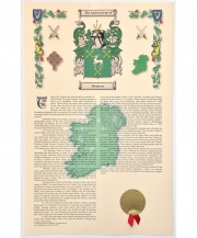 Coat of Arms & History Print 11x17