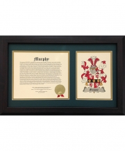 Family Name History & Coat-of Arms 12x20