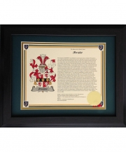 Coat-of-Arms Last Name History Prints (Framed)
