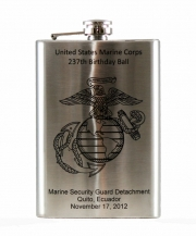 Custom Laser Engraved 8oz Hip Flask