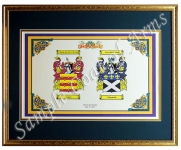 Double Coat of Arms Framed Gold