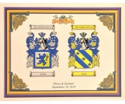 Double Coat of Arms Print Small