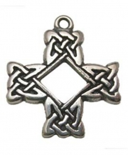 Druids Cross Pewter Necklace