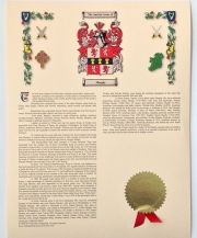 Coat of Arms & History Print - Small